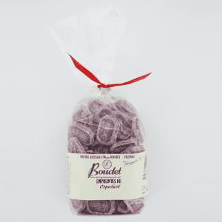 Sachet bonbons verre coquelicot